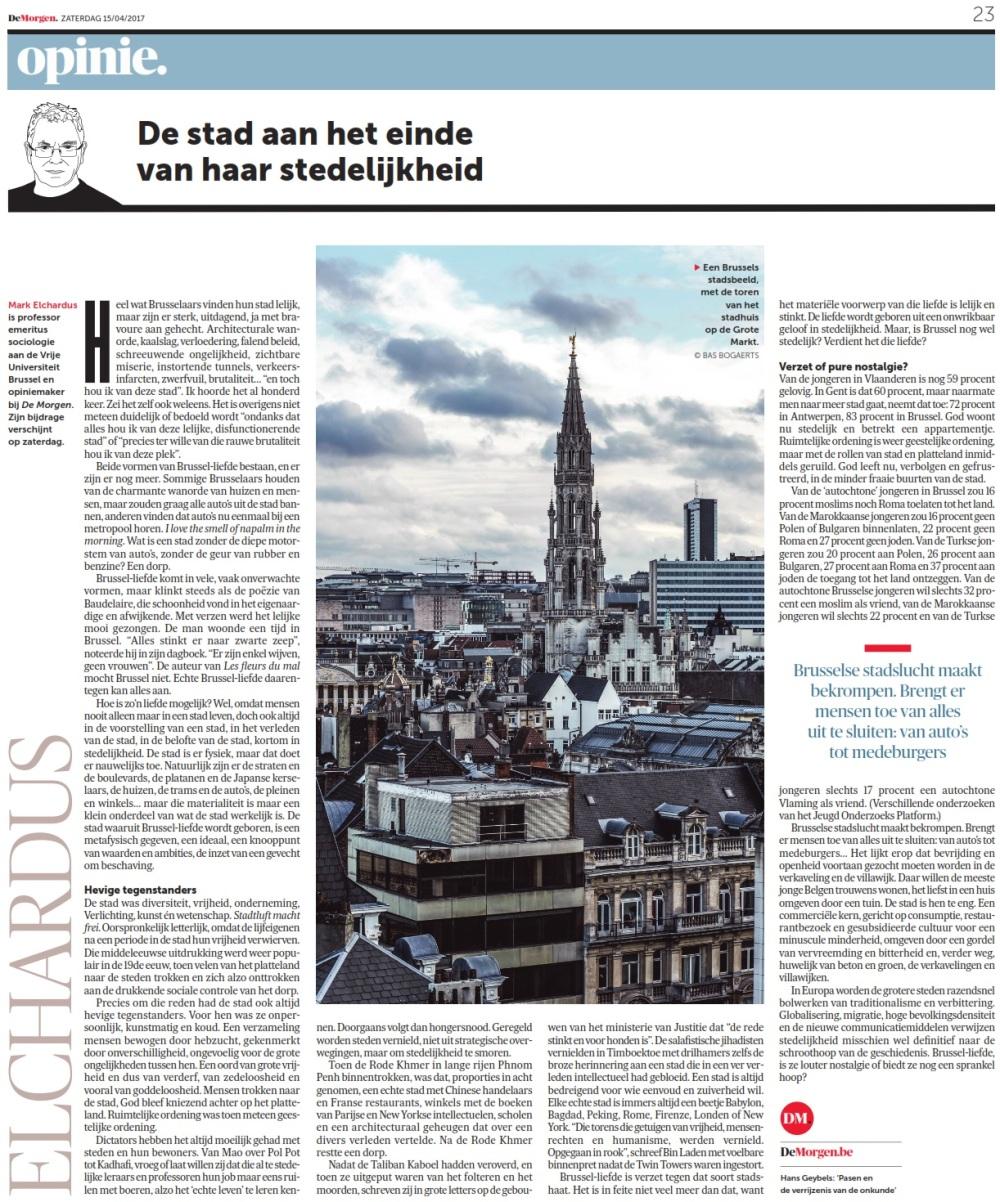 Elchardus - De Morgen 4.2017