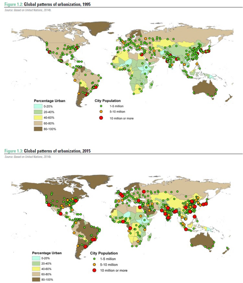 UN verstedelijking mondiaal